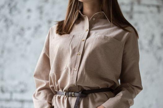 Рубашка женская Bueno из хлопка oversize, арт.0046-44