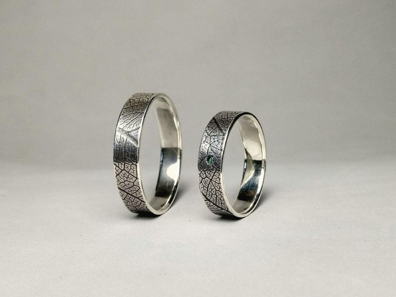 """Парные кольца """"Лиственные узоры"""", размеры по запросу"""