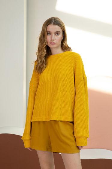 Женский желтый джемпер из хлопка