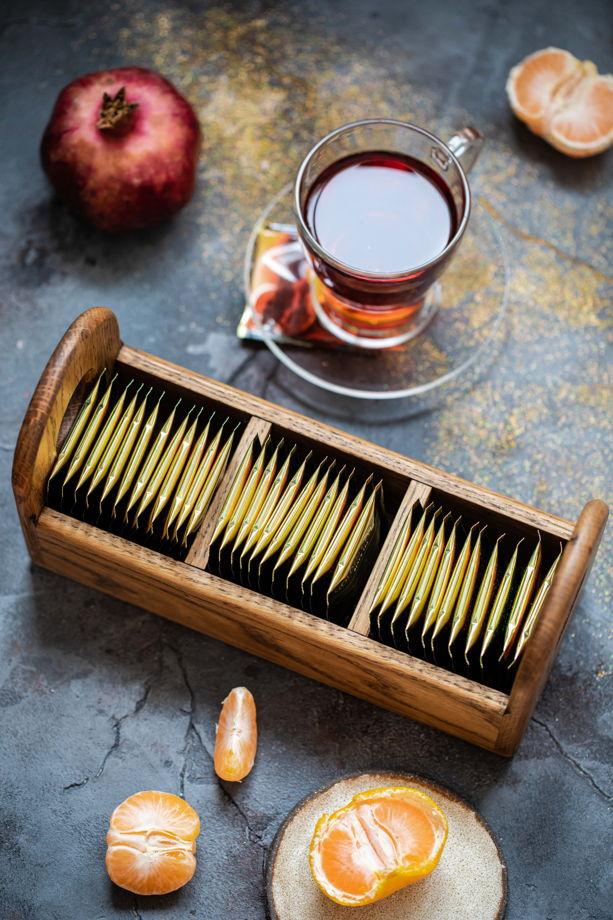 Подставка для чая с двумя ручками