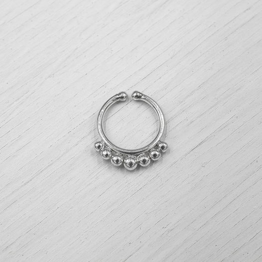 Септум обманка из серебра 003