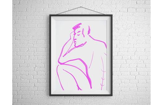 """Графика """"Мысли в розовом цвете"""""""
