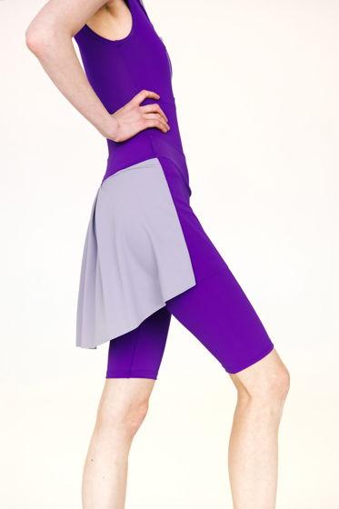 Шорты Тянутся до колен с юбкой в фиолетовом, черном и бежевом цветах для балета / спорта