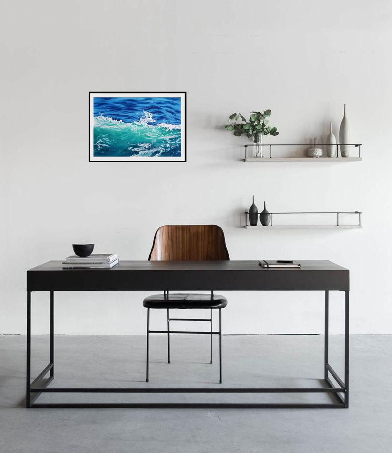 "Акварельная картина ""Волна"" (56 х 38 см)"