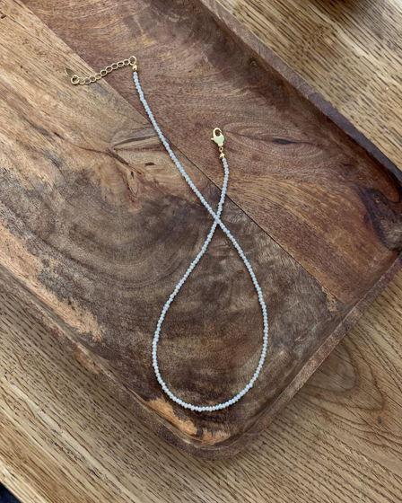 Чокер шею  из мелкого речного натурального жемчуга