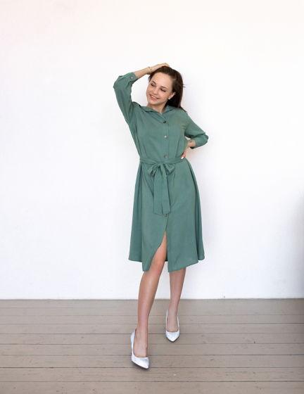 Повседневное женское летнее платье-рубашка