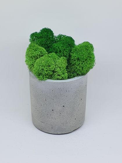 Кашпо из бетона серый цилиндр
