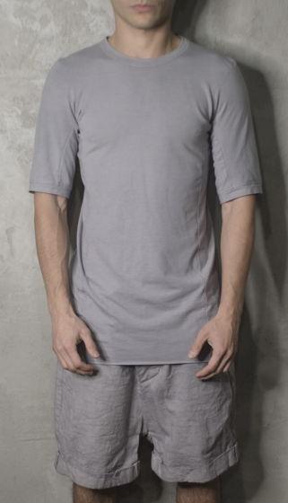 футболка концептуальная с эффектом обманного плеча
