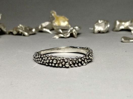 """Серебряное кольцо """"Подводный мир"""", размер 15 - 21"""