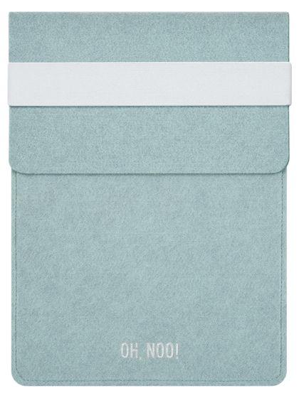 Чехол из фетра для iPad и планшетов, голубой, вертикальный с крышкой