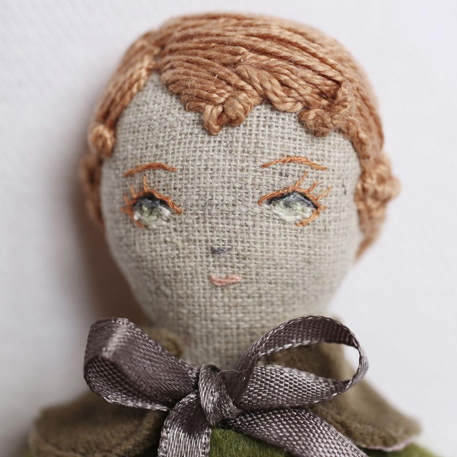 Льняная куколка Полли