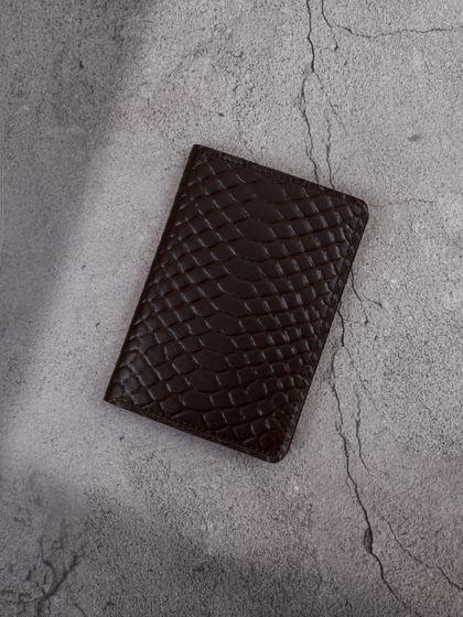 """Обложка для паспорта """"Verona"""" Питон Горький шоколад"""