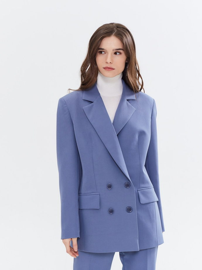 Жакет оверсайз синий