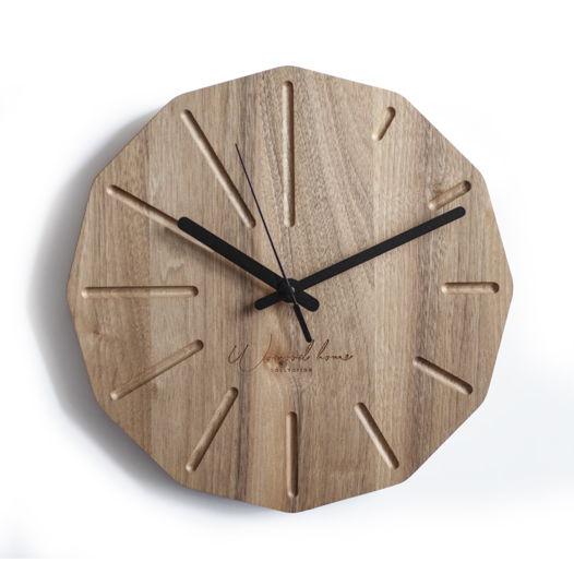 Настенные часы из массива кавказского ореха Dode Nut
