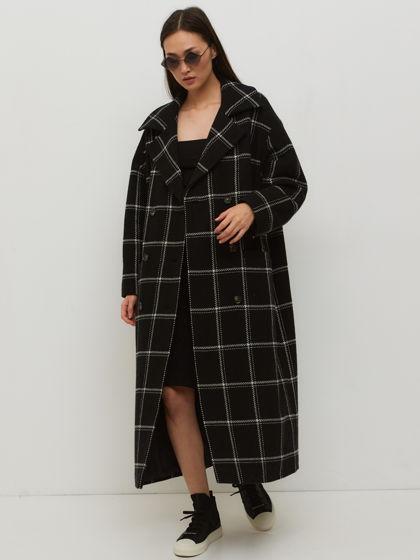 Двубортное пальто из шерсти Cellula от MICHMA'AM