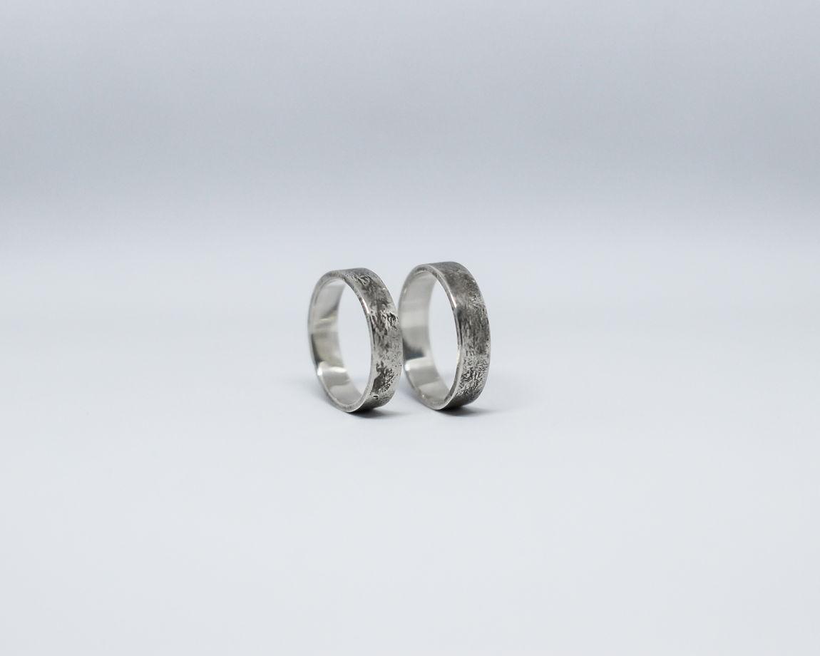 Кольцо из серебра Гранж