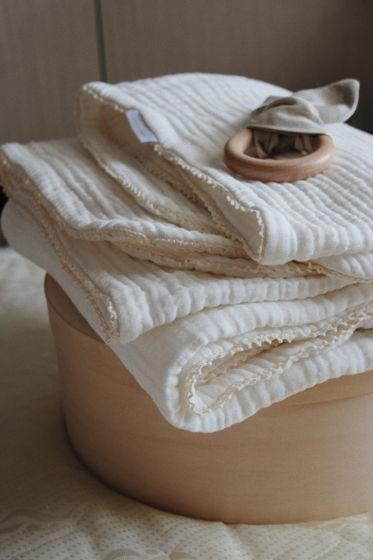 Мягкое одеяло из 8-ми слоёв муслина