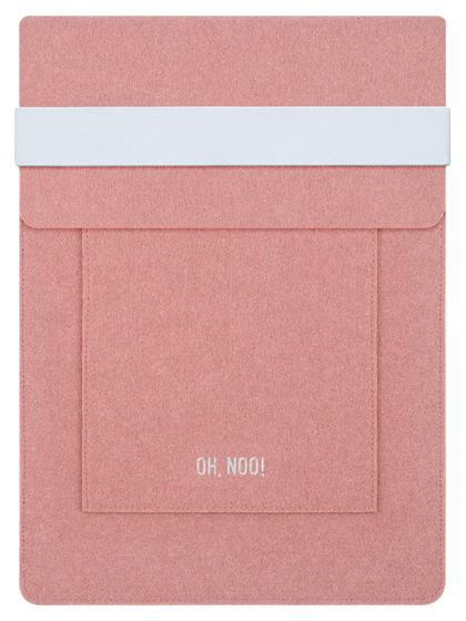 Чехол из фетра для MacBook и ноутбуков, дымчато-розовый, вертикальный с крышкой