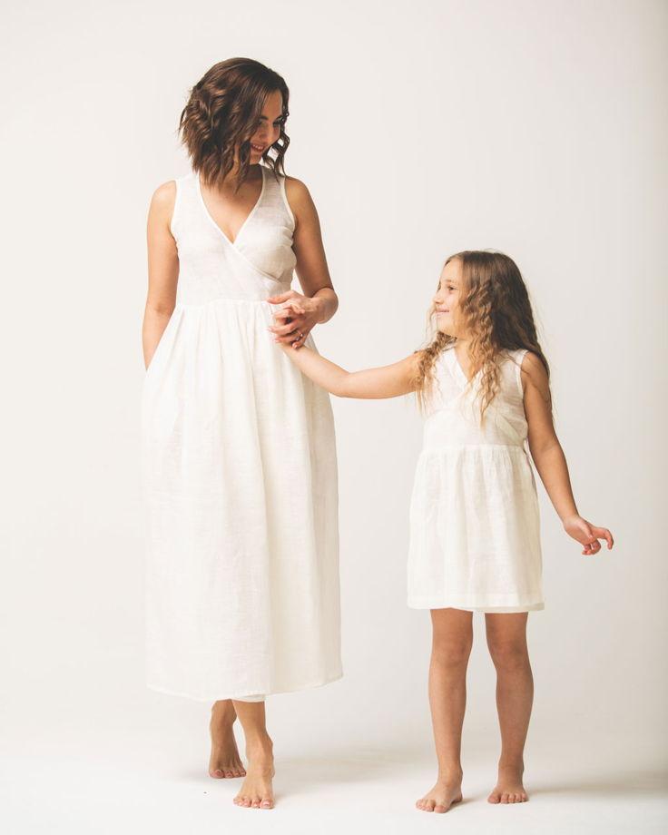 Сарафан льняной или платье из белого льна