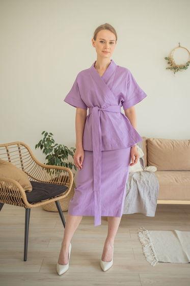 Юбка-карандаш Грум, фиолетовый