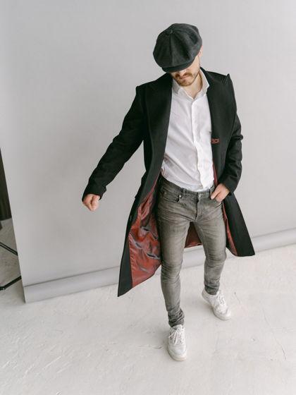 Мужское пальто Шелби в стиле Острых козырьков