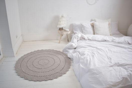 Круглый ажурный ковёр