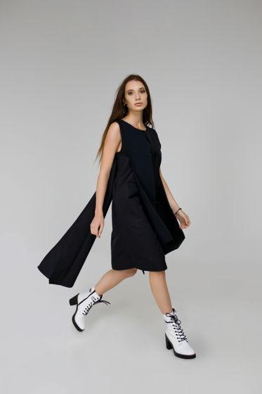 """Асимметричное темно-синее платье """"NAVY"""""""