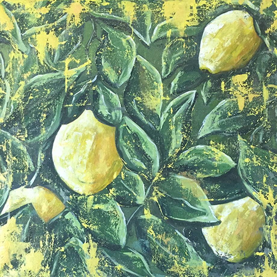 """Интерьерная картина """"Сочный лимон"""""""