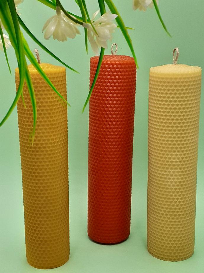 Свеча из вощины различных размеров и расцветок