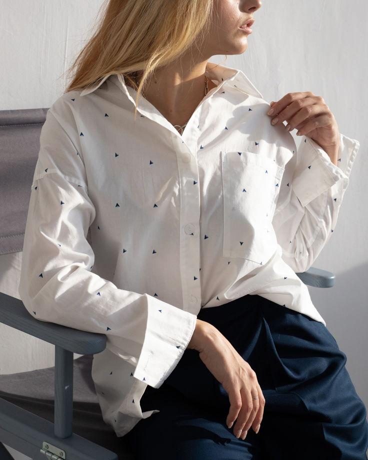 Женская рубашка Oversize с принтом