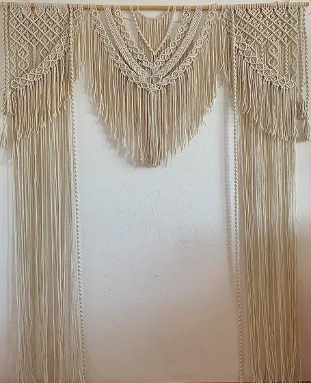 Свадебная макраме арка