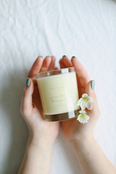 """Соевая свеча """"Зеленый чай и лемонграсс"""" 240 мл"""