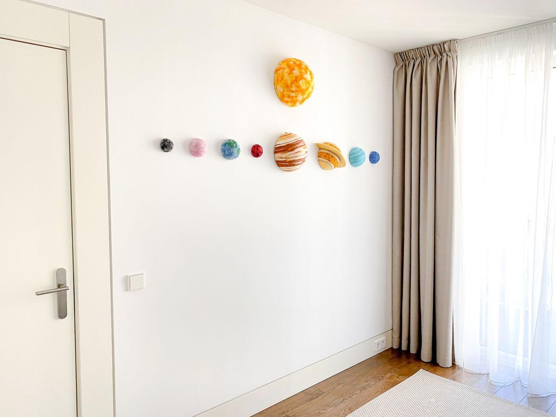 Планеты солнечной системы на стену, размер L