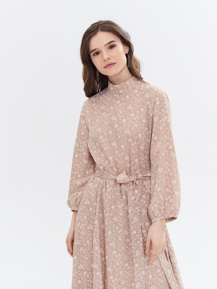 Платье  длинное хлопок цветочный принт