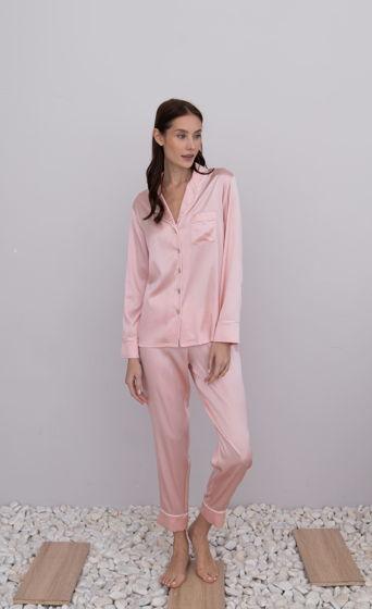 Пижама с зауженными брюками из шёлка