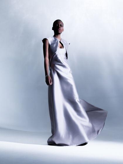 Длинное лаконичное платье с красивым корсетом + жакет