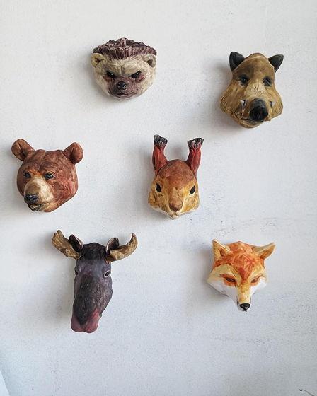 Лесные звери. Скульптуры интерьерные