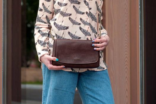 Женская сумочка-клатч через плечо