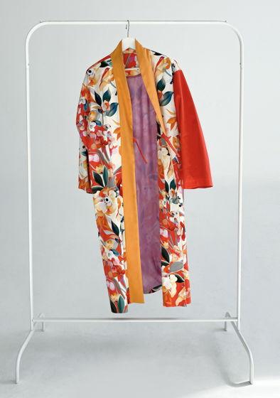 """Длинное кимоно из мягкого хлопка """"Red"""""""