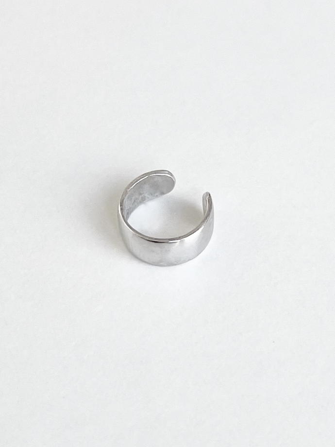 Кафф гладкий на верх уха / серебро 925
