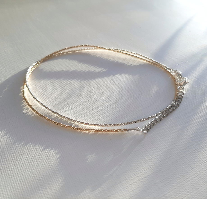 Комбинированная цепочка из бисера