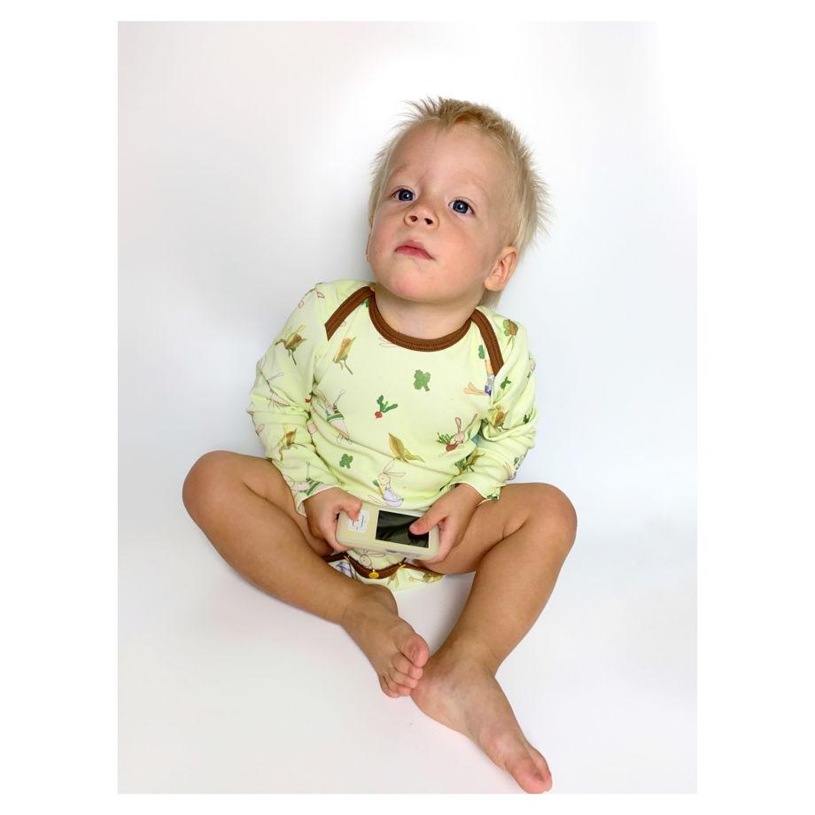 Бодик для новорожденных с длинным рукавом