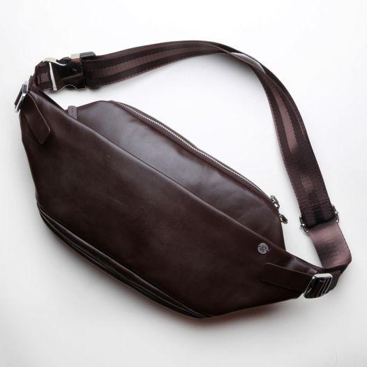 Кожаная коричневая поясная сумка Guarda