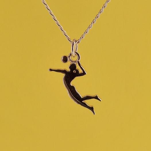Серебряная подвеска Удар для волейболистки