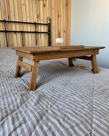 Портативный складной стол для ноутбука из массива дуба