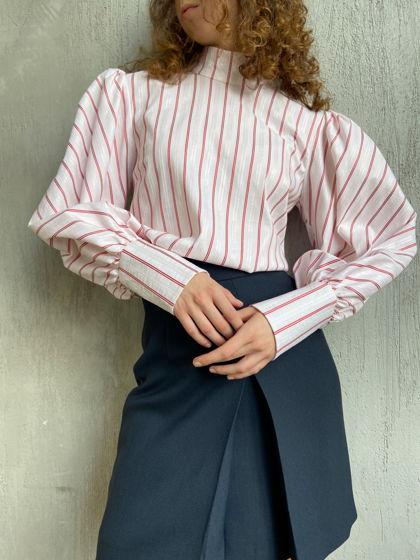 Блузка из хлопка в полоску