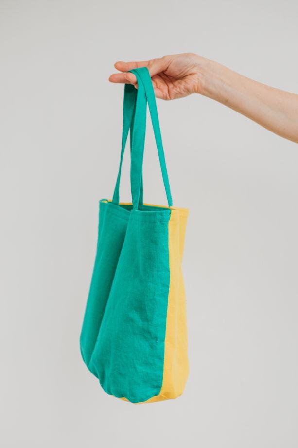 Сумка шоппер двухцветная