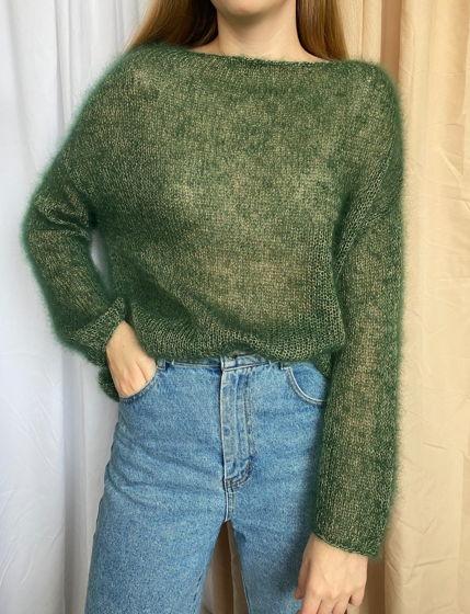 Джемпер паутинка green