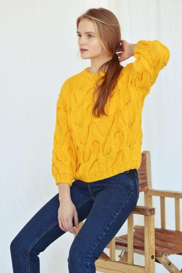 Хлопковый свитер с рукавом 3/4 (доступен в 20 цветах)
