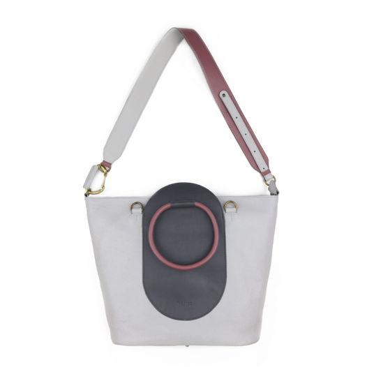 Кожаная сумка Arc Pearl/Gray
